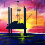 Oil Island 40x30